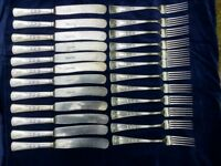 Antique Edwardian silver plated 24 items J.A.Henckels set of cutlery