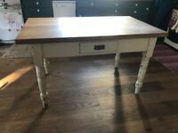 Kitchen Table with solid oak top