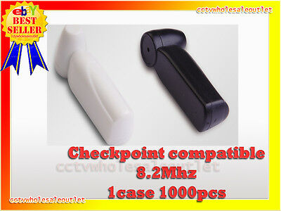 Security Black Pencil Tag Hard Tag 1000 Pcs Checkpoint Compatible 8.2mhz Black.