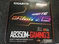 Gigabyte ab350m- gaming 3 AMD ryzen Micro ATX socket AM4 pc gaming motherboard