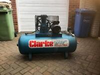 Clarke SE16C150 air compressor for sale 150 litre £260 no offers
