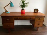 Vintage Mid Century Teak Desk / Dressing Table