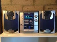 AIWA 3 CD Player Radio Amp Cassette Player with Speakers