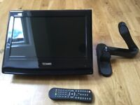 """15"""" Freeview TV with wall bracket"""
