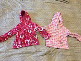 2 girl hooded fleeces