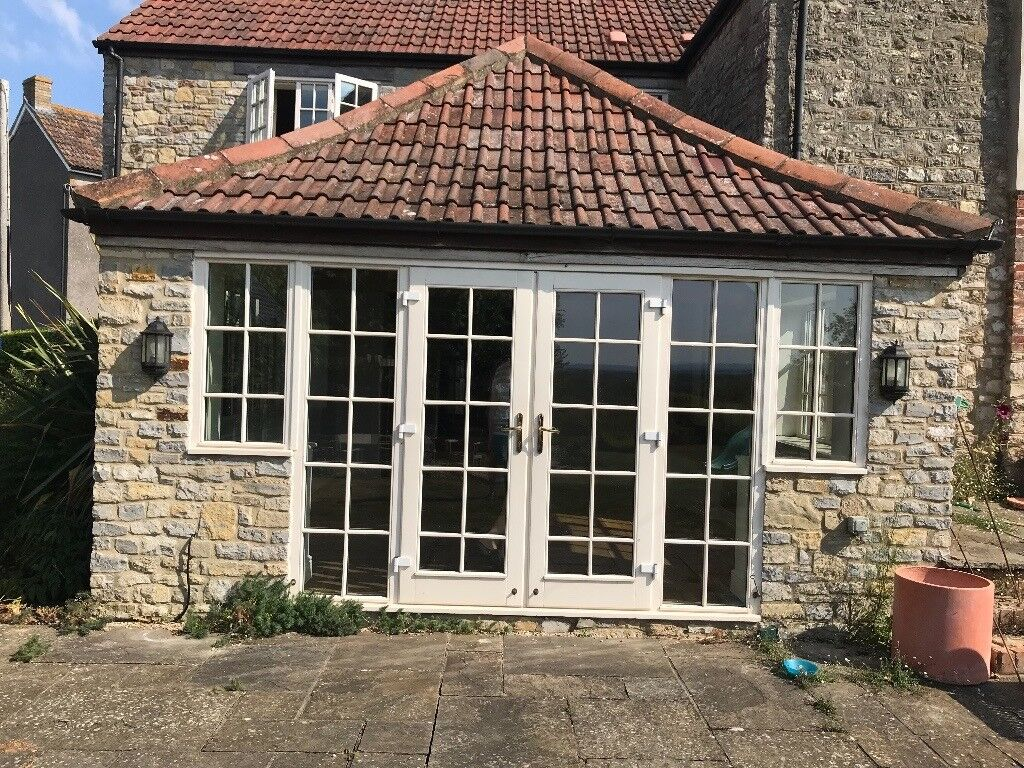 Good Quality Wooden French Doors With Glass Side Panels