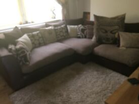 Corner settee and swivel chair
