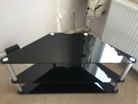 TV Stand - Black gloss glass