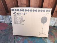 Used White pedestal fan