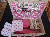 Complete 'Carnival Pink' Picnic Hamper £30