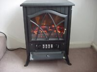 """ELECTRIC """"WOODBURNER"""" STOVE - GOOD WORKING ORDER - VARIOUS FAN ASSISTED HEATING/COOLING OPTIONS."""