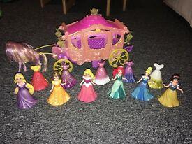 Disney princesses with horse & carriage