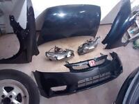 Complete Civic SI 2010 front clip black/noire