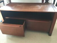 Sturdy TV stand with drawers