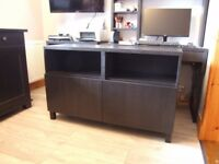 TV Media Unit Black Brown