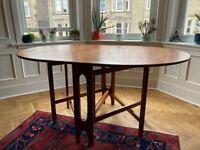 Mid-century drop leaf dining table