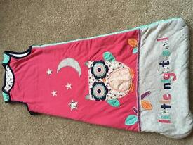 Two 18-24 month 2.5 tog girls sleeping bags for sale in Widley