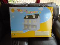 Large flat pack wooden dolls house