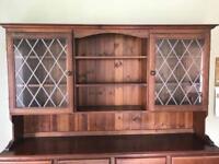Dark stained pine dresser