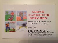 ANDY'S GARDENING SERVICES FREE QUOTE.