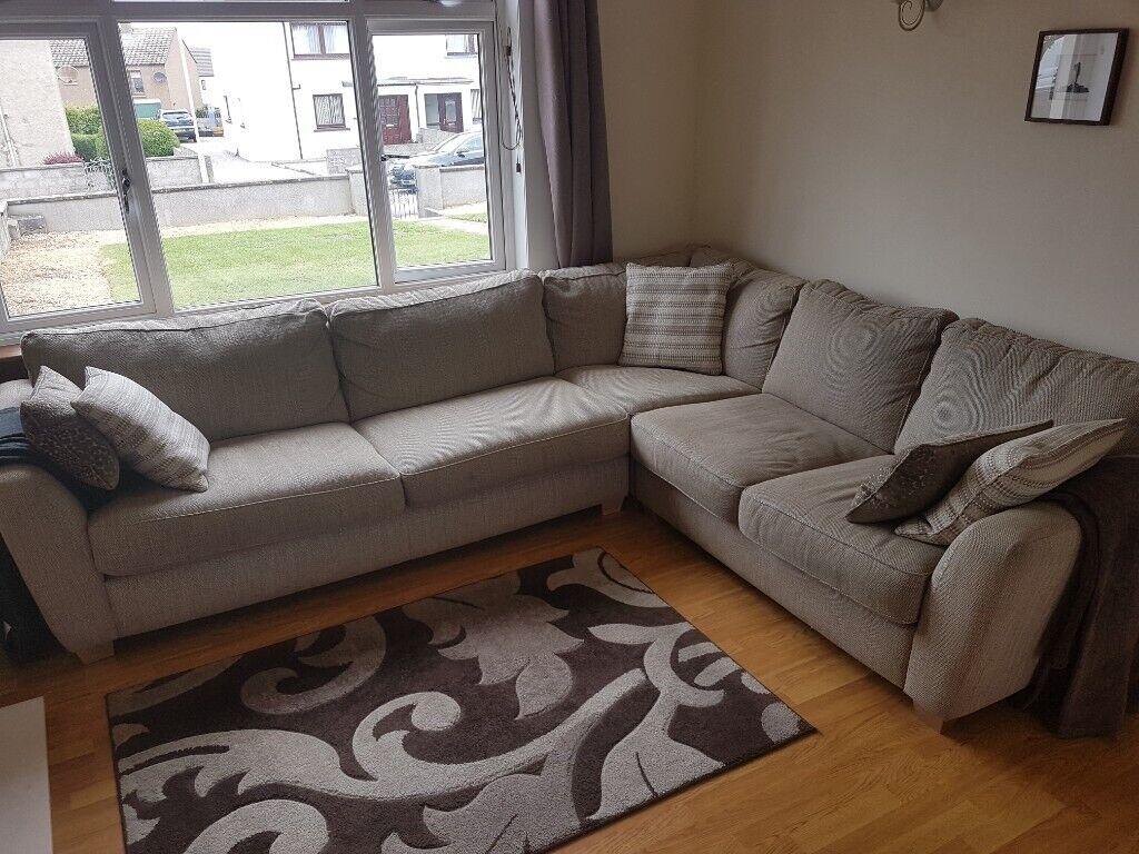 wholesale dealer b650b 7a4b4 DFS sophia left corner sofa, and pouffe | in Elgin, Moray | Gumtree