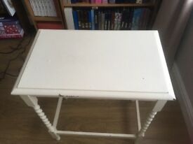 Small wooden table needs repainting ideal shabby chic project