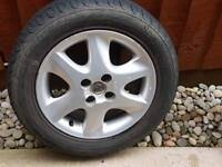 Free for collection 3x alloy wheels and tyres Toyota corolla