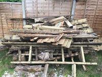 Free firewood (recently dismantled garden decking)