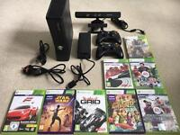 Xbox 360 S bundle - Kinect 2x Controllers & Games