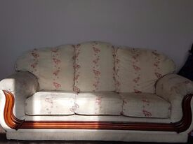 3 seater sofa and 2 1 seater sofas for sale.