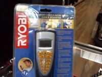 RYOBI PROJECT CALCULATOR WITH LASER POINT, BRAND NEW