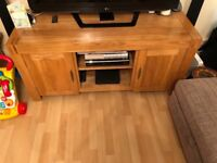 Oak Furniture Land Alto Large TV unit and Alto large coffee table