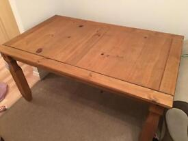 Solid oak dining table £50