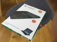 Logitech ultra thin keyboard cover for iPad Air.