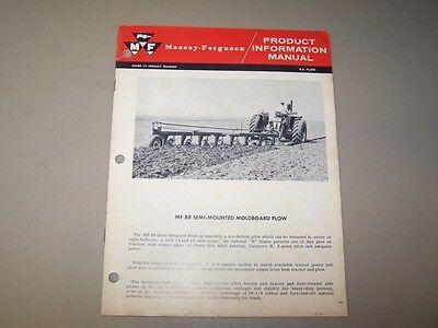 1960s Mf 88 Mounted Moldboard Plow Massey Ferguson Product Information Manual
