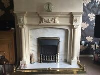 FIRE SURROUND - ONYX/MARBLE (LARGE)
