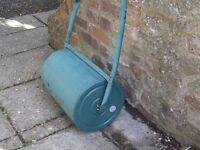 Garden roller surplus to requirements, needs filling.