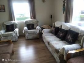3 seater sofa, 1 seater and one recliner.