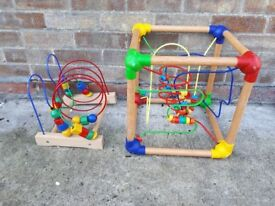 Wooden bead activity toys