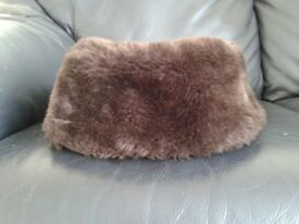 Fake Fur Dark Brown Hat