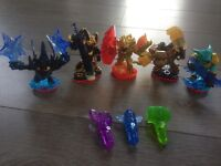 Skylanders trap team 5 characters and 3 traptanium crystals