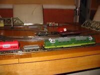coco class diesel train set + hornby diesel train set