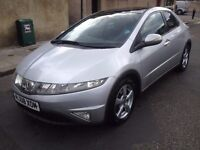 Silver Honda civic 2.2 diesel i-cdti 5 doors hatchback, panoramic roof,