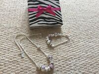 boxed next necklace and bracelet set - charm style - new