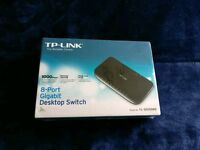TP-Link 8 Port Gigabit Switch - New and sealed.