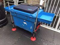 Shakespeare Match Fishing Seat Box w/ Strap - OCTOPLUS Legs, Cushion & Trays