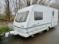 Lunar Clubman 2 berth touring caravan 2001 with end shower room in lovely condition