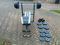 Bench Press with weights up to 80KG