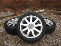 AUDI ALLOY RS4/ TT WHEELS WITH TYRES