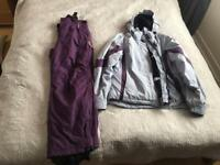 Woman's ski jacket and trousers